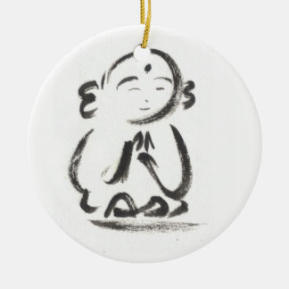 Jizo the Monk Christmas Ornament