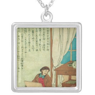 JJ Audubon  on a trip to Japan disovers a rat Silver Plated Necklace