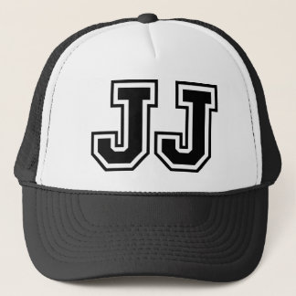 'JJ' Monogram Trucker Hat