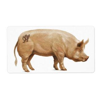 JJHD pig label