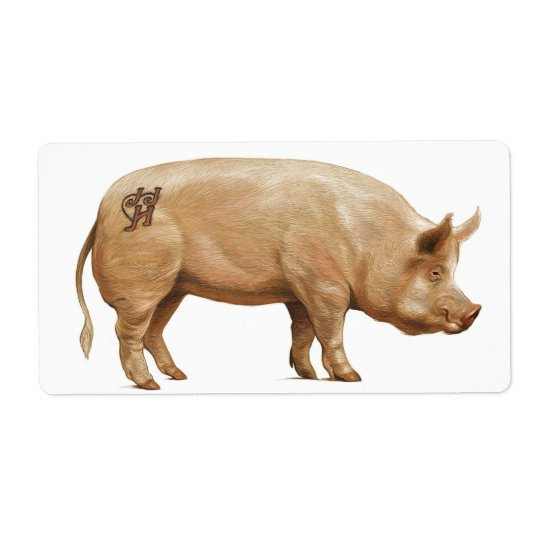 JJHD pig label Shipping Label