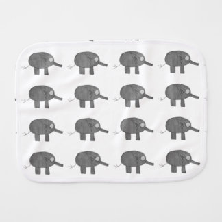 JMCdesign gray elephant Burp Cloth