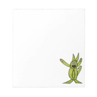 "JMCdesign Green Dog 5.5"" x 6"" Notepad - 40 pages"