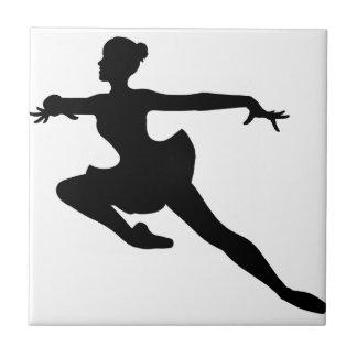 JMO Ballerina Deluxe (Ballet Dancer Silhouette) ~ Small Square Tile