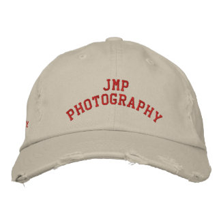 JMP Photography Distressed Twill Cap Embroidered Hat
