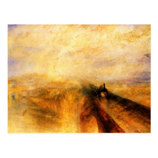 JMW Turner Rain Steam and Speed Postcard