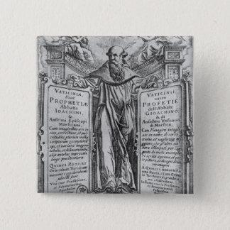 Joachim of Flora 15 Cm Square Badge