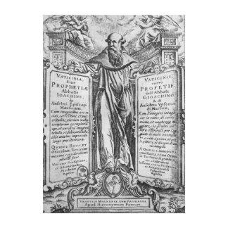 Joachim of Flora Canvas Print