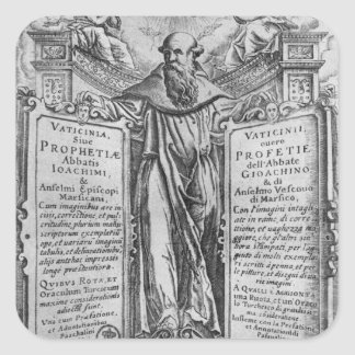 Joachim of Flora Square Sticker
