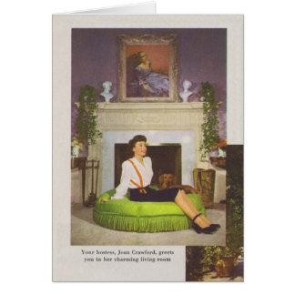 Joan Crawford Brentwood Home 1944 Greeting Card
