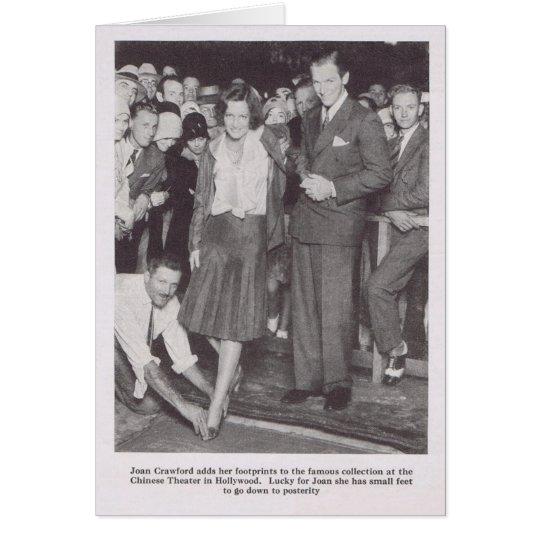 Joan Crawford Chinese Theatre 1930 magazine photo Card