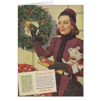 Joan Crawford Christmas Ad 1937 Greeting Card