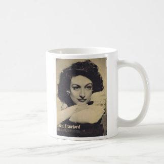 Joan Crawford vintage portrait Basic White Mug