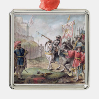 Joan of Arc (1412-31) Orders the English to Leave Christmas Ornament