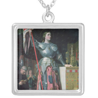 Joan of Arc  at the Coronation of King Charles Silver Plated Necklace