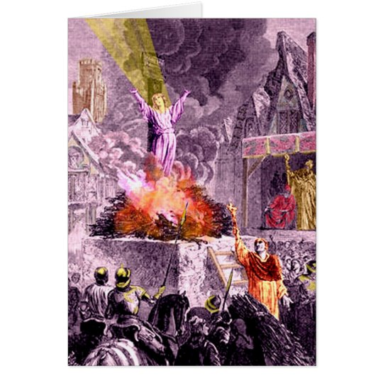 Joan of Arc Burns Card
