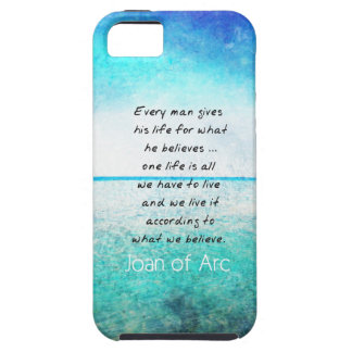 Joan of Arc COURAGE Quote Tough iPhone 5 Case