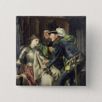 Joan of Arc  Insulted in Prison, 1866 15 Cm Square Badge