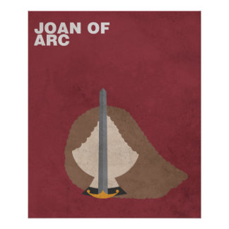 Joan of Arc:Minimalist Historical Figures Poster
