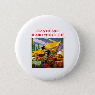 joan of arc voice psycho design 6 cm round badge