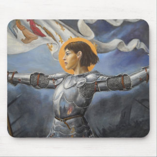 Joan of Arc with banner Mouse Pad