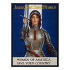 Joan of Arc WPA French American Feminism Ads Pinup Poster