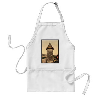 Joan of Arc's Tower, Rouen, France vintage Photoch Adult Apron