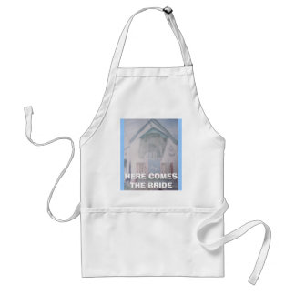 Joann F. 013, HERE COMES THE BRIDE Adult Apron