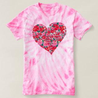 Joanne Short Hibiscus Heart Design tie-die t-shirt