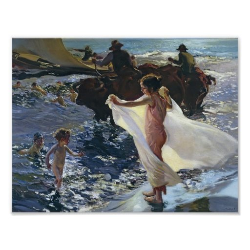 Joaquín Sorolla- Bathing Time Poster