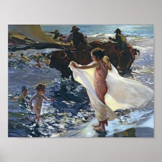 Joaquín Sorolla- Bathing Time Poster