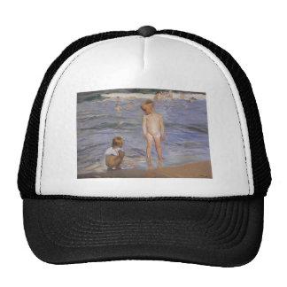 Joaquín Sorolla- Children bathing in afternoon sun Trucker Hat