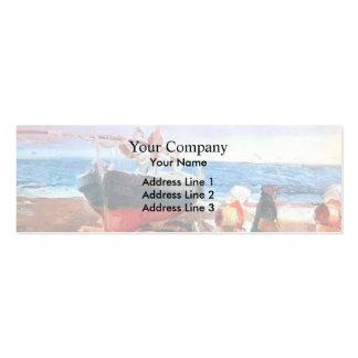 Joaquín Sorolla-Fisherwomen on the Beach, Valencia Pack Of Skinny Business Cards