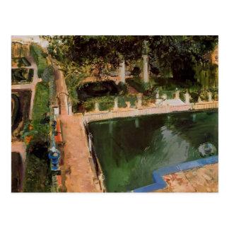 Joaquín Sorolla-Garden of Carlos V in the Alcázar Postcard