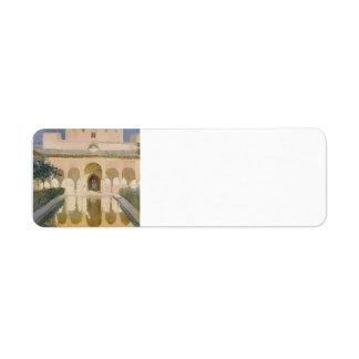Joaquín Sorolla-Hall of the Ambassadors, Alhambra Return Address Label