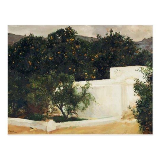Joaquín Sorolla- Orange trees on road to Seville