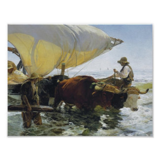 Joaquín Sorolla- Return from Fishing Poster