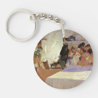 Joaquín Sorolla- The Christening Single-Sided Round Acrylic Key Ring