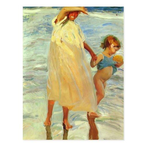 Joaquín Sorolla- The two sisters Postcard