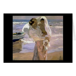 Joaquín Sorolla y Bastida After The Bath Card