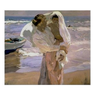 Joaquín Sorolla y Bastida After The Bath Poster