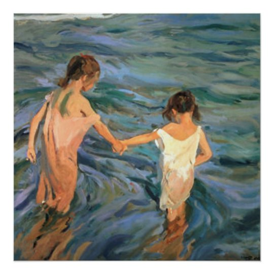 Joaquín Sorolla y Bastida Children in the Sea