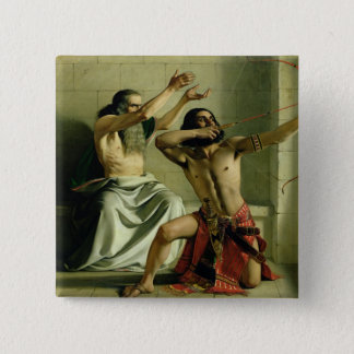 Joash Shooting the Arrow of Deliverance, 1844 15 Cm Square Badge