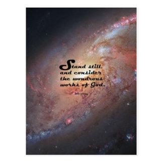 Job 37:14 postcard