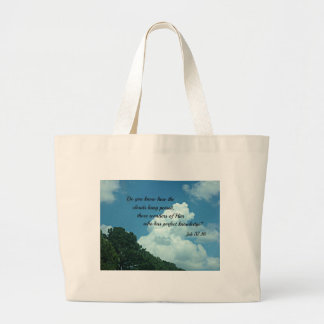 Job 37:16 Do you know how the clouds... Jumbo Tote Bag
