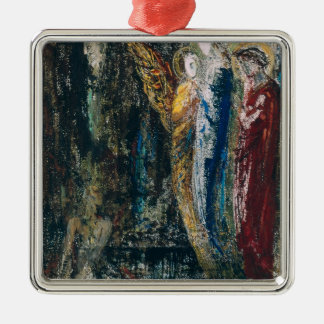 Job and the Angels, c.1890 Silver-Colored Square Decoration