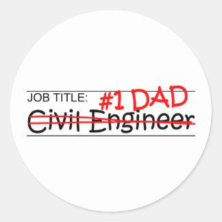 Job Dad Civil Engineer Round Sticker