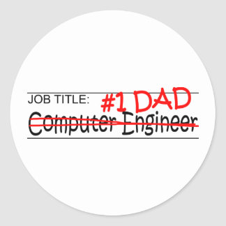 Job Dad Comp Eng Round Stickers