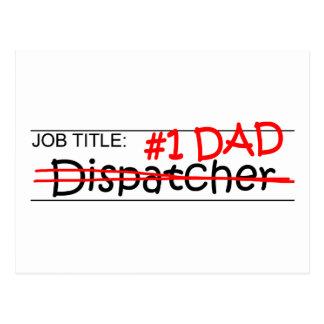 Job Dad Dispatcher Postcard