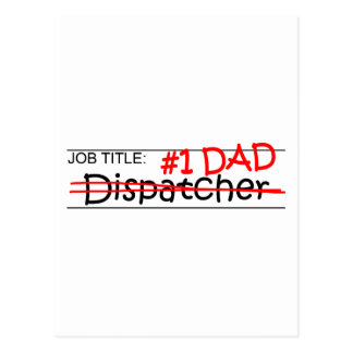 Job Dad Dispatcher Postcards